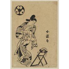 鳥居清信: Kogenda tying obi - ボストン美術館