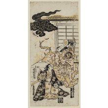 Torii Kiyonobu II: Actors Bandô Hikosaburô as Ômori Hikoshichi Morinaga and Yoshizawa Ayame as Kikusui - Museum of Fine Arts