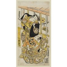 鳥居清信: Actors Ichimura Takenojô and Bandô Hikosaburô - ボストン美術館