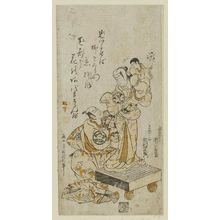 Torii Kiyonobu II: Actors Segawa Kikunojô and Ichimura Uzaemon - Museum of Fine Arts
