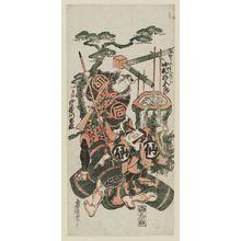 Torii Kiyonobu II: Actors Nakamura Sukegorô as Kô no Moronô [=Moronao] and Sanogawa Ichimatsu as Rikiya - Museum of Fine Arts