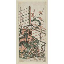 Torii Kiyonobu II: Actors Ichimura Kamezo and Arashi Wakazo - Museum of Fine Arts
