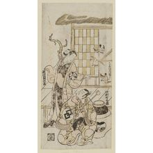 Torii Kiyonobu II: Actors Nakamura Shichisaburô and Segawa Kikujirô - Museum of Fine Arts