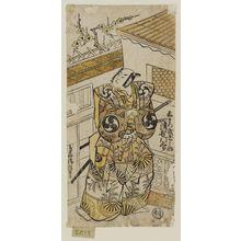 Torii Kiyonobu II: Actor Tsuuchi Monzaburô as Akamatsu Mushanosuke - Museum of Fine Arts