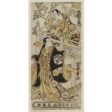 Torii Kiyonobu II: Actors Ichimura Uzaemon VIII as Seigen and Takinaka Utagawa as Sakurahime - Museum of Fine Arts