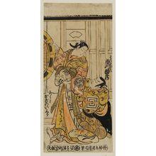 Torii Kiyonobu II: Actors Ichikawa Danzô as Fuwa Banzaemon and Ogino Isaburô as Katsuragi - Museum of Fine Arts