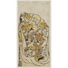 Okumura Toshinobu: Hotei Holding a Bag with Chinese Children Inside - Museum of Fine Arts