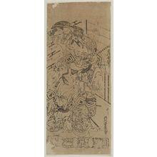 西村重長: Actors Ichikawa Danjûrô and Ichikawa Ebizô - ボストン美術館