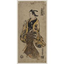 西村重長: In the Style of a Young Man (Wakashû fû), Left Sheet of a Triptych (Sanpukutsui hidari) - ボストン美術館