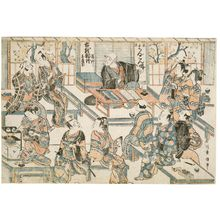 石川豊信: Fukai Shidôken Lecturing (Kosen monogatari kôshi Shidôken) - ボストン美術館