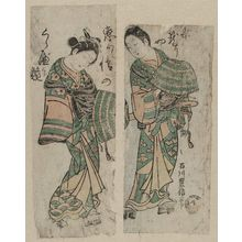 Ishikawa Toyonobu: Couple Dressed as Komusô - Museum of Fine Arts