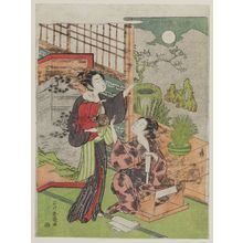 Ishikawa Toyonobu: Women and Baby Admiring Autumn Moon - Museum of Fine Arts