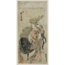 Torii Kiyomitsu: Actor Onoe Tamizô - Museum of Fine Arts