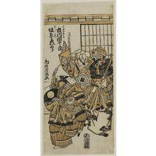 Torii Kiyomitsu: Actors Ichikawa Danjûrô as Kumasaka and Bandô Hikosaburô as Ushiwaka - Museum of Fine Arts