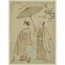 Torii Kiyomitsu: Actors Ichikawa Komazô I and Nakamura Matsue I - Museum of Fine Arts