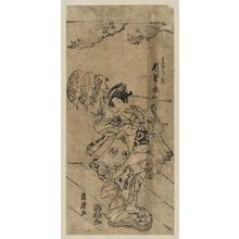 Torii Kiyotsune: Actor Segawa Kikunojô II in the Dance of the Feather Robe (Hagoromo no mai) - Museum of Fine Arts