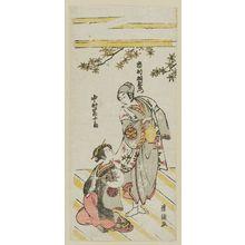 Torii Kiyotsune: Actors Ichimura Uzaemon and Nakamura Tomijûrô - Museum of Fine Arts