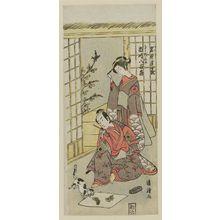 Torii Kiyotsune: Actors Iwai Hanshiro and Ichikawa Yaozo - Museum of Fine Arts