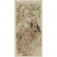 Torii Kiyomitsu: Actors Ôtani Hiroji II as Tanba Yosaku and Ichiyama Shichizô as Koman - Museum of Fine Arts