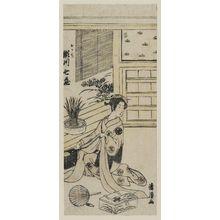 鳥居清経: Actor Segawa Shichizô as Okachi - ボストン美術館