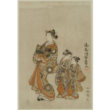 Komatsuken: Courtesan Parading with Two Kamuro - ボストン美術館