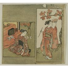 Suzuki Harunobu: The Third Month (Sangatsu), from an untitled series of Twelve Months - Museum of Fine Arts