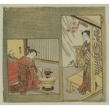 Suzuki Harunobu: The Tenth Month (Jûgatsu), from an untitled series of Twelve Months - Museum of Fine Arts