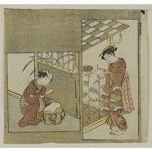 鈴木春信: The Ninth Month (Kugatsu), from an untitled series of Twelve Months - ボストン美術館