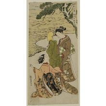 Suzuki Harunobu: Autumn Moon of Matsukaze (Matsukaze no shûgetsu), from the series Fashionable Eight Views of Nô Plays (Fûryû utai hakkei) - Museum of Fine Arts