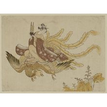 Suzuki Harunobu: Woman Riding a Phoenix - Museum of Fine Arts