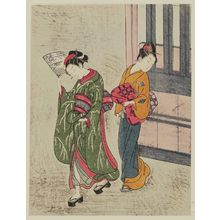 Suzuki Harunobu: Clearing Weather of the Fan, from the series Eight Views of the Parlor (Zashiki hakkei) - Museum of Fine Arts