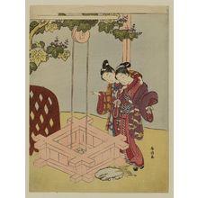鈴木春信: Parody of the Well-curb Episode from Tales of Ise - ボストン美術館