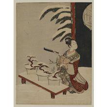 鈴木春信: Parody of the Nô Play Hachi no Ki - ボストン美術館