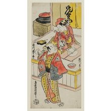 鳥居清信: Actors Ichikawa Danjûrô II as Kenkaya Goroemon and Segawa Kikunojô as Osen - ボストン美術館
