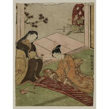 Suzuki Harunobu: Poem by Saigû Nyôgo, from an untitled series of Thirty-six Poetic Immortals (Sanjûrokkasen) - Museum of Fine Arts
