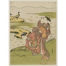Suzuki Harunobu: Poem by Chûnagon Yakamochi, from an untitled series of Thirty-six Poetic Immortals (Sanjûrokkasen) - Museum of Fine Arts