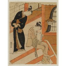 Suzuki Harunobu: Poem by Sanjô no in Onna Kurôdo Sakon, from an untitled series of Thirty-six Poetic Immortals (Sanjûrokkasen) - Museum of Fine Arts