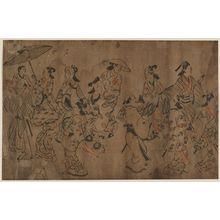 Hishikawa Moronobu: Street Scene - Museum of Fine Arts