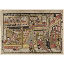 Nishimura Shigenaga: A Floating World Clock as the Bell of Muken (Ukiyo tokei Muken no kane) - Museum of Fine Arts
