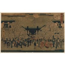 二歌川広重: Naka-no-chô in the Yoshiwara (Yoshiwara Naka-no-chô), from the series Famous Places in the Eastern Capital (Tôto meisho) - ボストン美術館