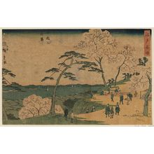 Utagawa Hiroshige II: Cherry Blossoms in Full Bloom at Goten-yama (Goten-yama hanazakari), from the series Famous Places in Edo (Edo meisho) - Museum of Fine Arts