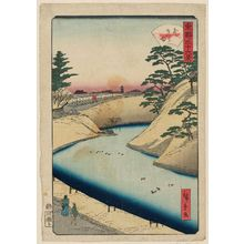 二歌川広重: Soto-Sakurada, from the series Thirty-six Views of the Eastern Capital (Tôto sanjûrokkei) - ボストン美術館