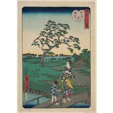 二歌川広重: Clearing Weather at Sekiya Village (Sekiya no sato no seiran), from the series Eight Views of the Sumida River (Sumidagawa hakkei) - ボストン美術館