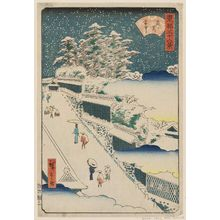 二歌川広重: Kasumigaseki in Snow (Kasumigaseki setchû), from the series Thirty-six Views of the Eastern Capital (Tôto sanjûrokkei) - ボストン美術館