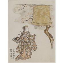 石川豊信: Dancer and Bell of Dôjô-ji Temple - ボストン美術館