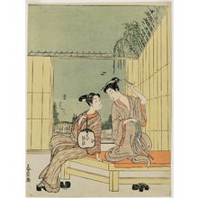 Shiba Kokan: Couple Cooling Off on a Garden Bench - Museum of Fine Arts