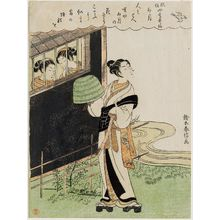Suzuki Harunobu: The Fourth Month (Uzuki), from the series Popular Customs and the Poetic Immortals in the Four Seasons (Fûzoku shiki kasen) - Museum of Fine Arts