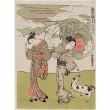 Isoda Koryusai: Autumn Moon of the Courtesan on Call (Yobidashi no aki no tsuki), from the series Eight Views of Fashionable Human Relations (Fûryû jinrin mitate hakkei) - Museum of Fine Arts