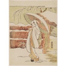 Isoda Koryusai: The Heron Maiden (Sagi musume) - Museum of Fine Arts