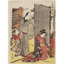 Torii Kiyonaga: Lovers' Quarrel, from the series Contest of Alluring Beauties (Irokurabe enpu sugata) - Museum of Fine Arts